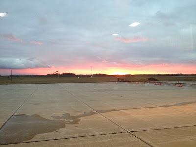 Beautiful Sunset over the Runway