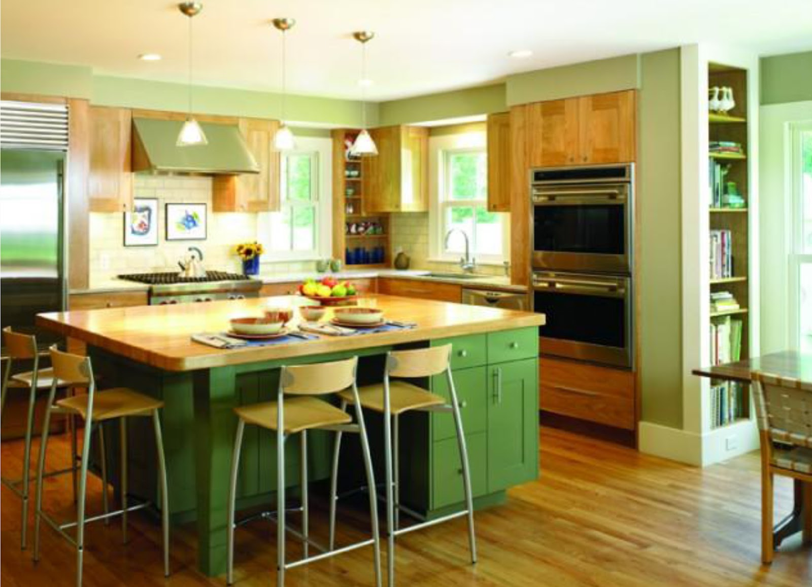 Lshaped Kitchen with Island