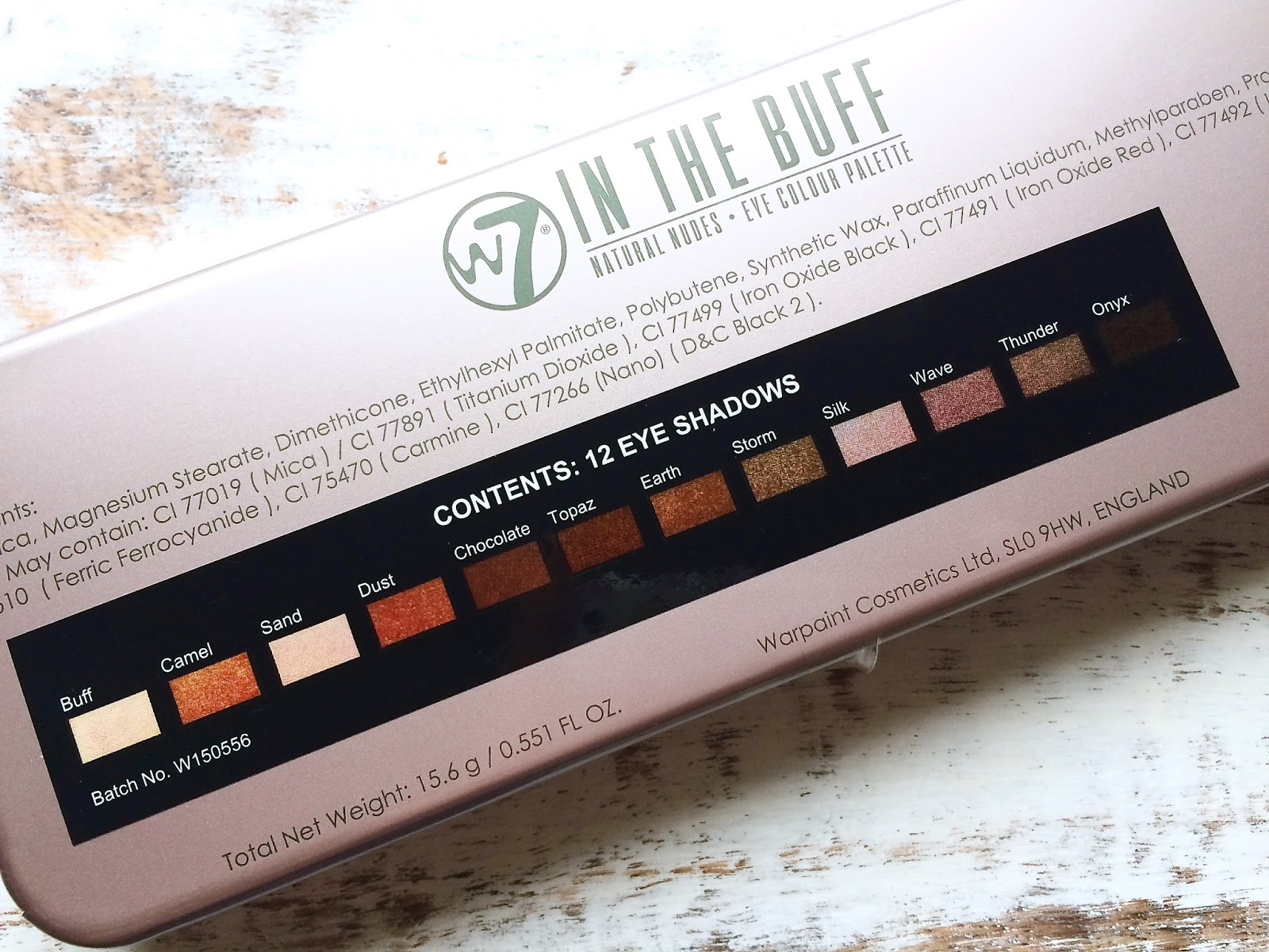 W7 In The Buff Palette