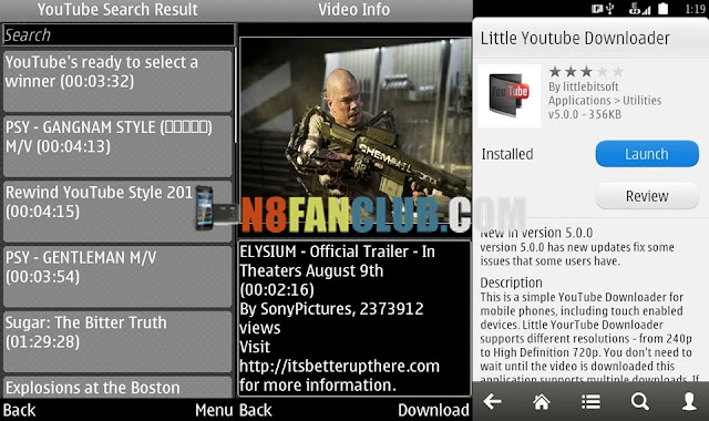 Youtube downloader for nokia 500 belle