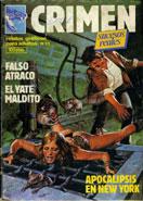 revista erótica de cómics para adultos Crimen: con las historias: Falso atraco, El yate maldito y Apocalipsis en New York