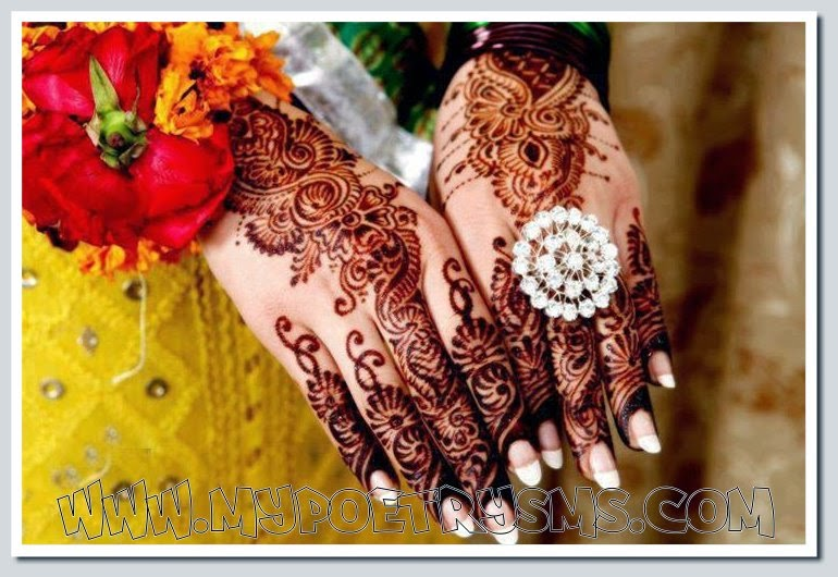 Mehndi Hands Poetry : A beautiful piece of mehndi work val s board