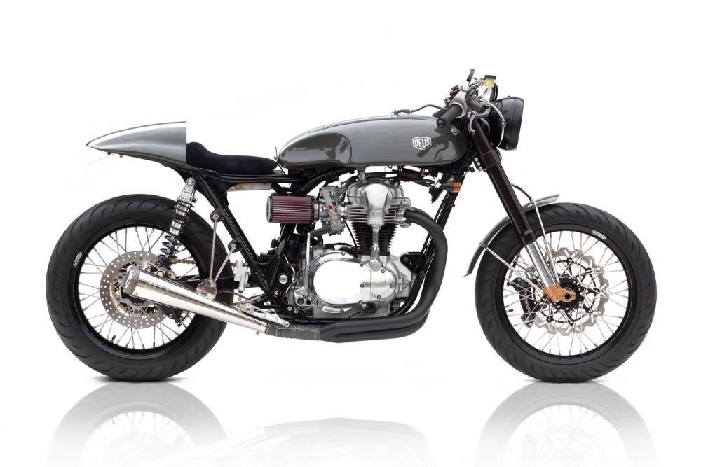 Bike Cafe Racer Parts : Moto grigio kawasaki w cafe racer way speed