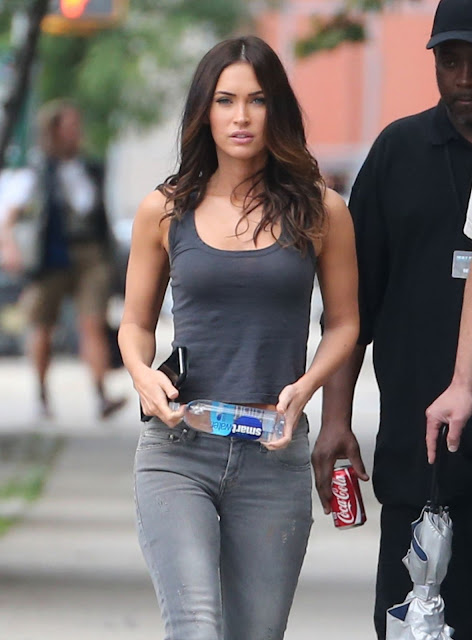 Actress, Model @ Megan Fox - Teenage Mutant Ninja Turtles 2 Set in NYC