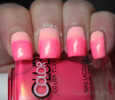 neon pink leopard print nails