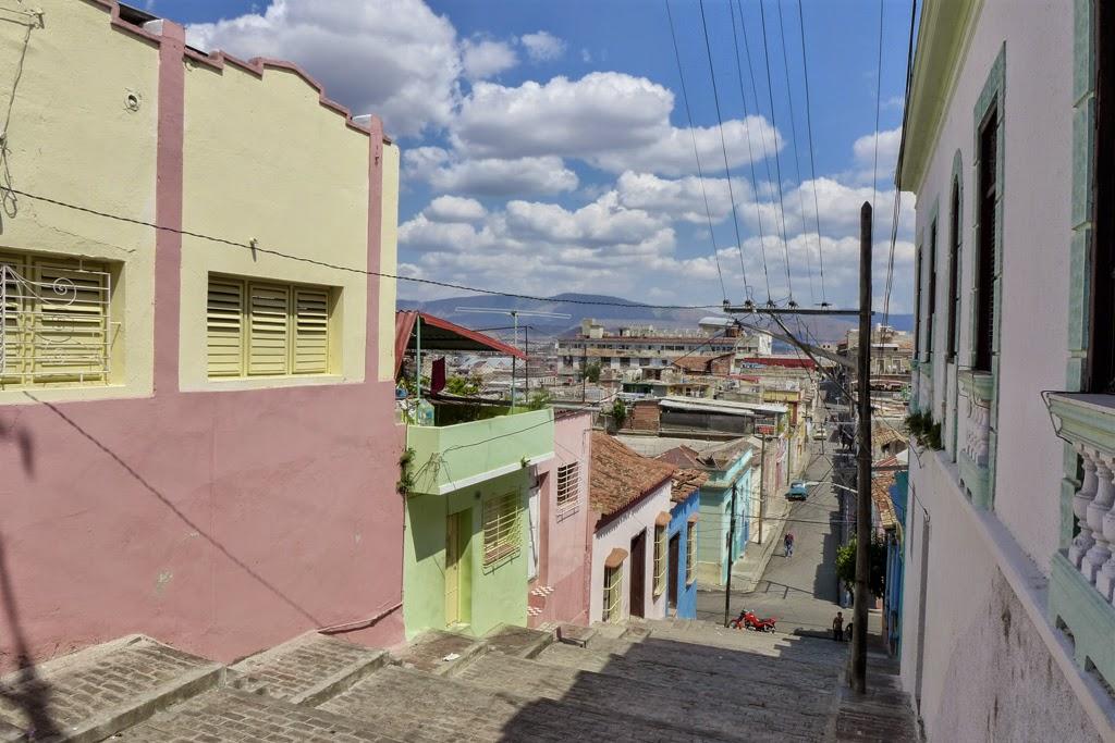 Santiago de Cuba the steps of Padre Pico