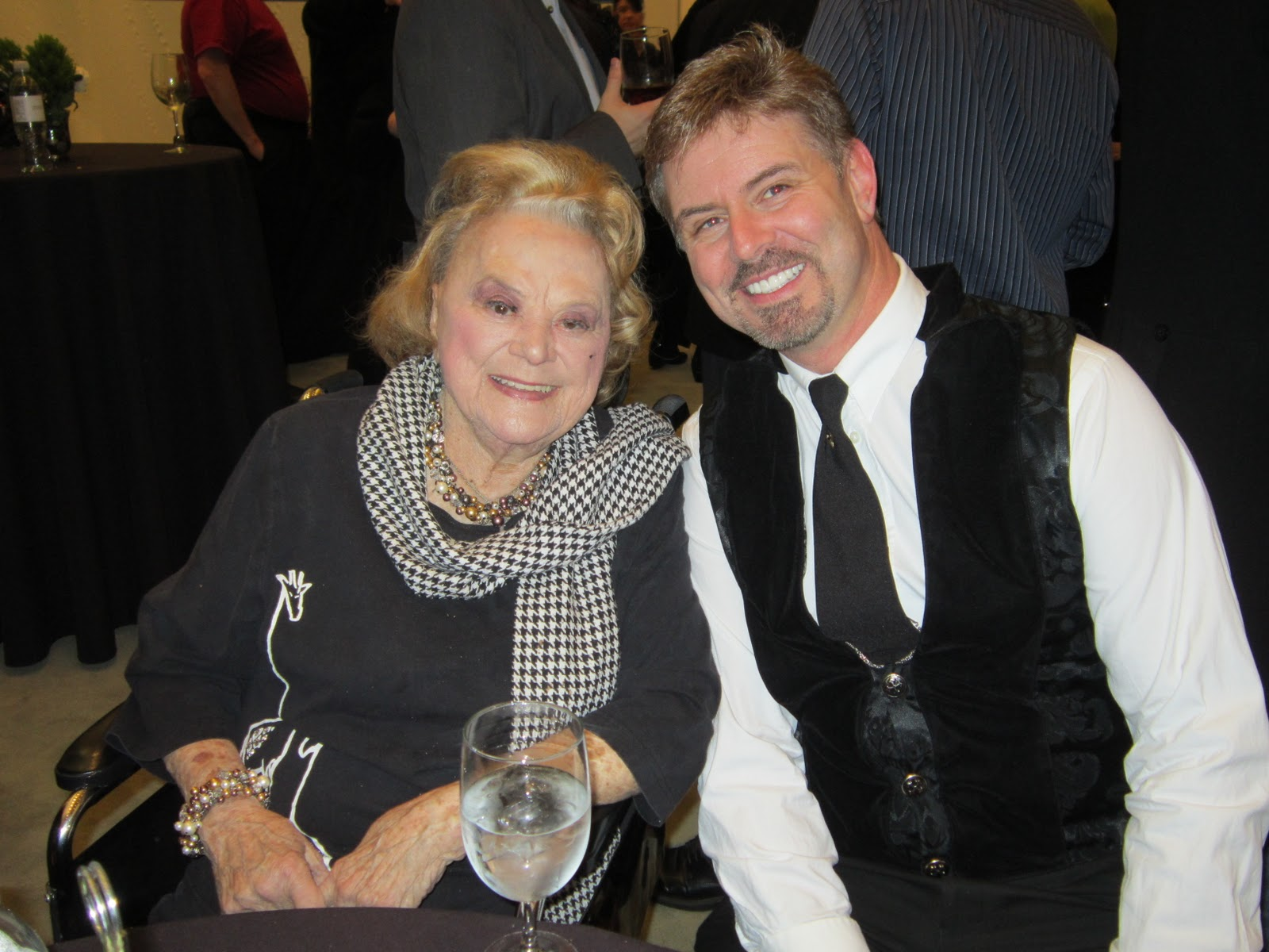 "Rose Marie with Harlon Boll (one of ""Wait's"" associate producers)"