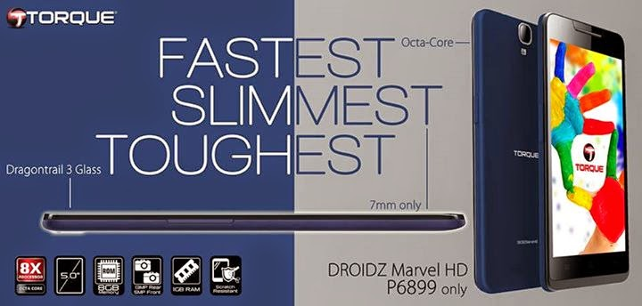 Torque DROIDZ Marvel HD: Specs, Price and Availability