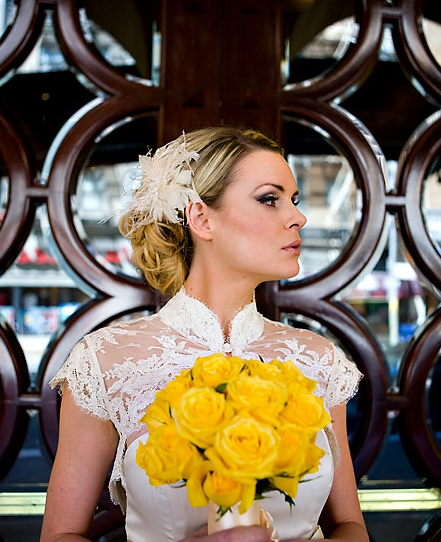 length hair to an elegant vintage updo with intricate pin curls