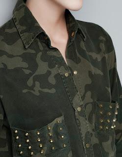 Zara Camouflage Overshirt zoom