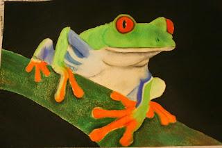 Oil Pastel Frog