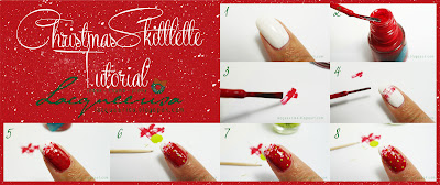 Lacqueerisa: Christmas Skittlette Tutorial (Index, Thumb, Pinky)