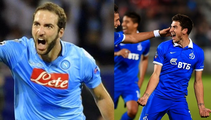 Napoli vs Dinamo Moscu en vivo