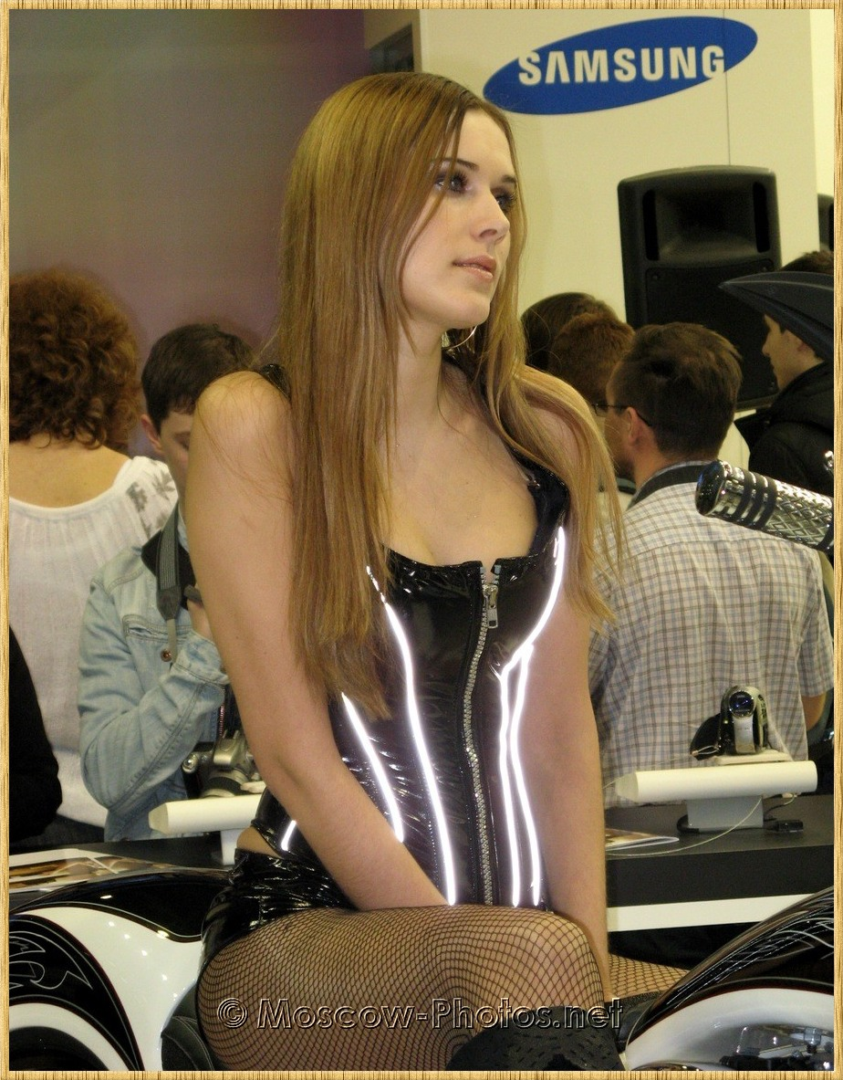Beautiful long-haired girl at Photoforum - 2008