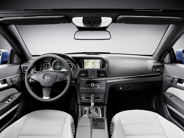 Interior shot of 2011 Mercedes-Benz E350 Cabriolet