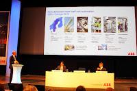 Johan visar omsättning och intäkter för fem divisioner inom ABB Sverige 2014.