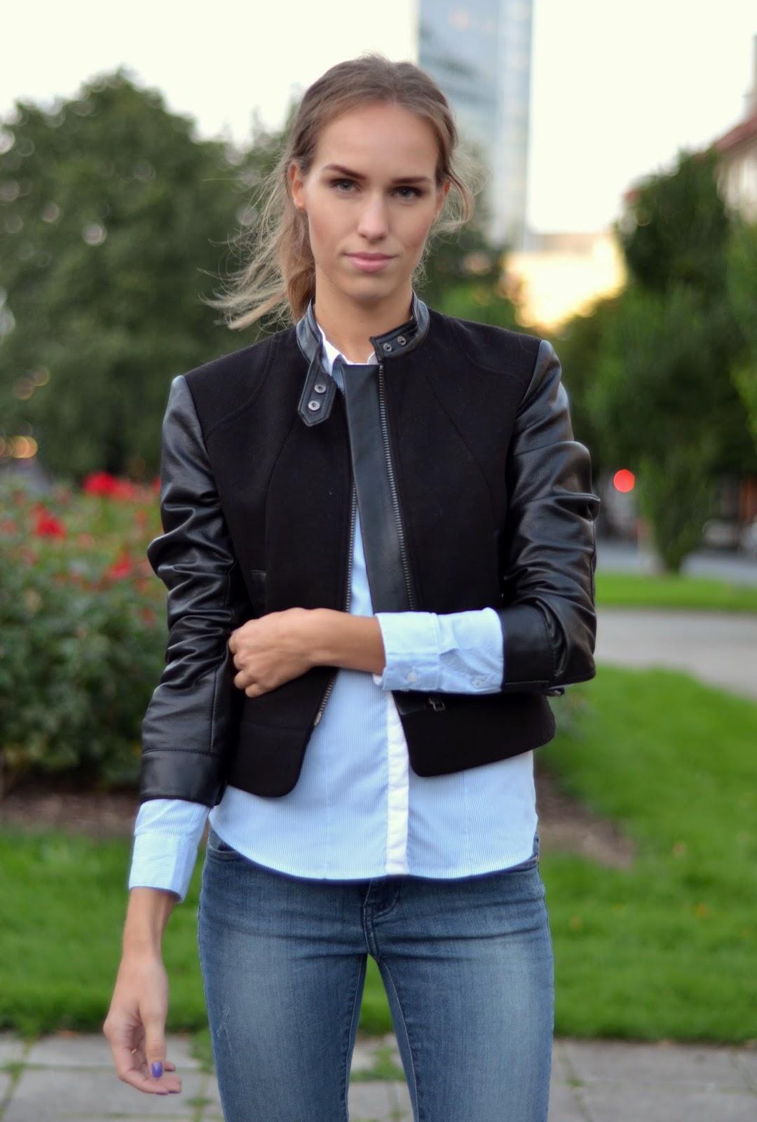 hm-leather-jacket-blue-shirt