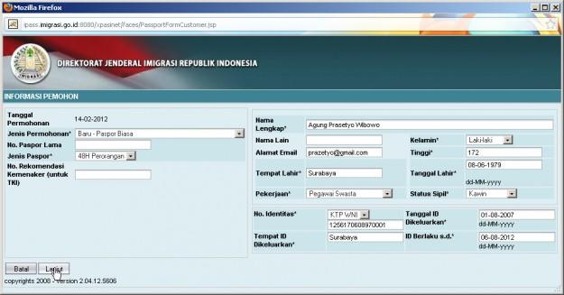 Langkah-langkah membuat Paspor online - exnim.com