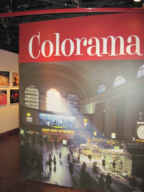 Old New York featured Coloramas displayed under this sign at Grand Central Station