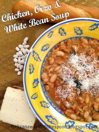 Chicken, Soup, White Bean, Orzo, Spinach