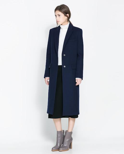 navy masculine coat