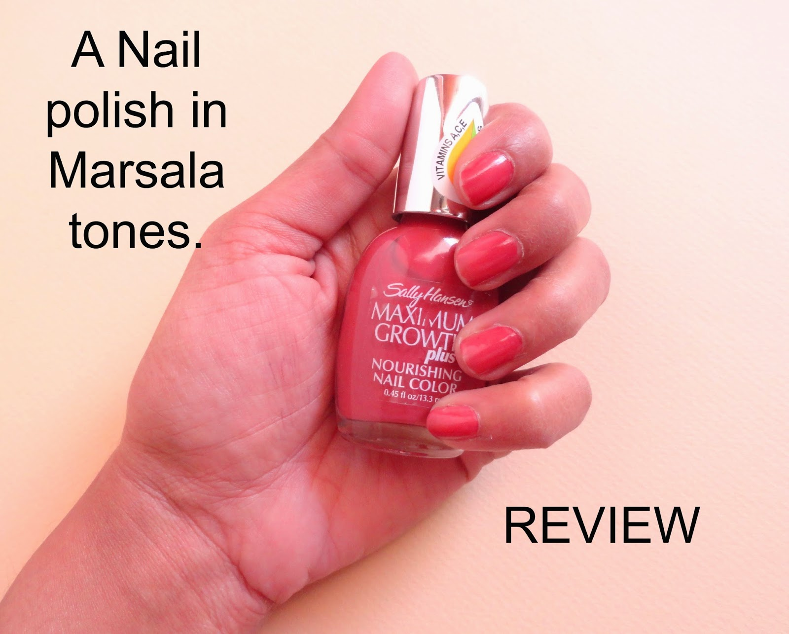 REVIEW: Sally Hansen Maximum Nail Growth Plus Nourishing nail colour in Tender Mulberry image