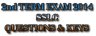 SECOND TERM EXAM 2014 - STANDARD 10 QUESTION PAPERS AND KEYS