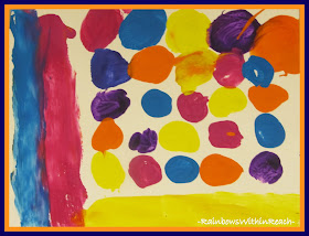 photo of: Marshmallow Painting in Preschool, Open-ended Art Project via RainbowsWithinReach