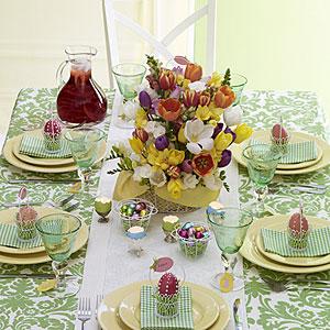 decoraçao mesa pascoa