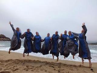nuns jumping