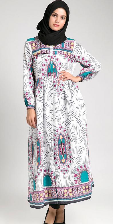 Desain Baju Muslim Gamis untuk Orang Gemuk