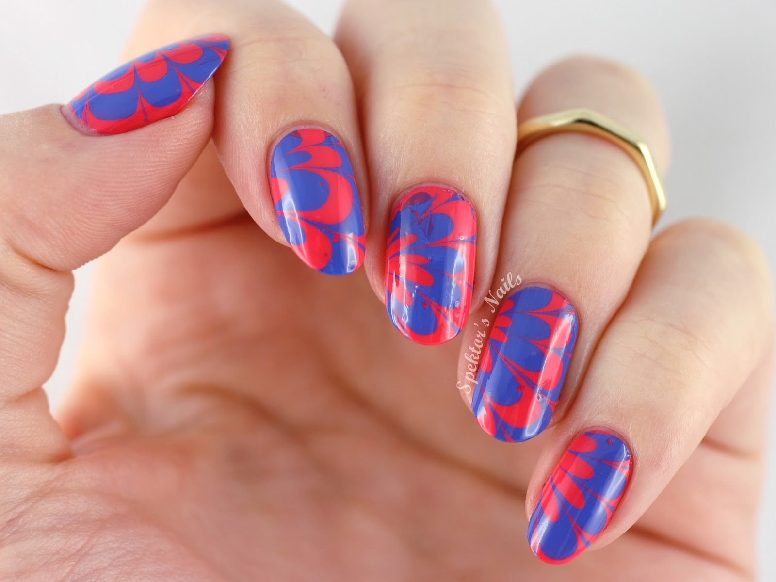 Water Marble feat. Sally Hansen - Pacific Blue