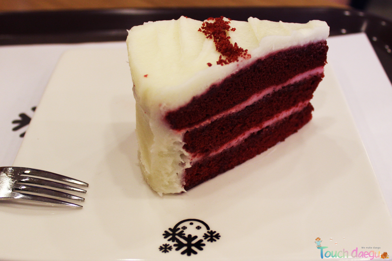 A piece of red velvet cake