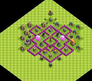Farm Base COC TH 6 Dengan Air Sweaper Clash of Clans