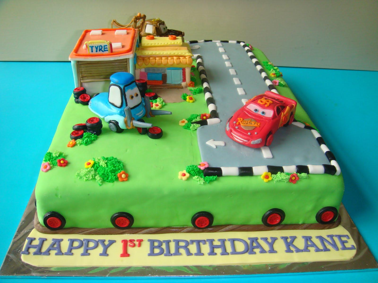 Disney Cars Cake Images : Yummy Baking: Disney Cars Fondant Cake