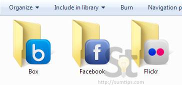SocialFolders explorer folders