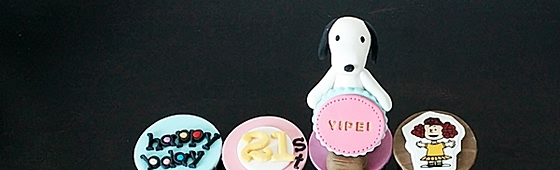 Snoopy Cupcakes with Edible Image in Penang !