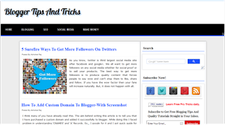 The Pro Blogging Blogger Template