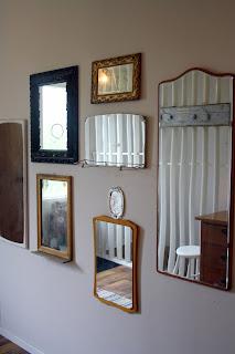 Speglar, spegelvägg,