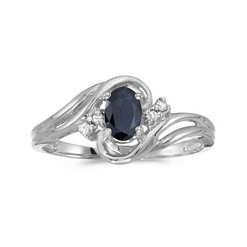 Design Wedding Rings Engagement Rings Gallery 10k White Gold Oval Sapphire A