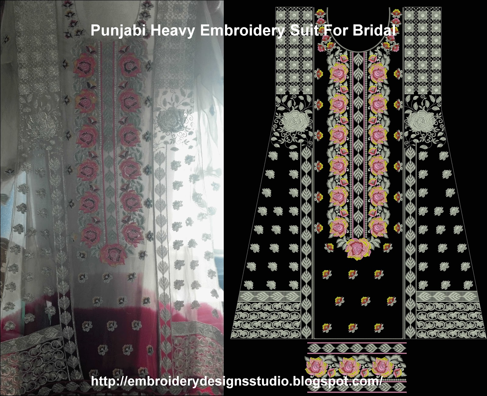 Punjabi Suit Heavy Embroidery Designs - Embroidery Designs