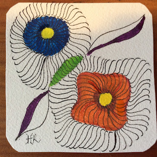 Diva Challenge #226, Popsicles, Zentangle, Light to go places