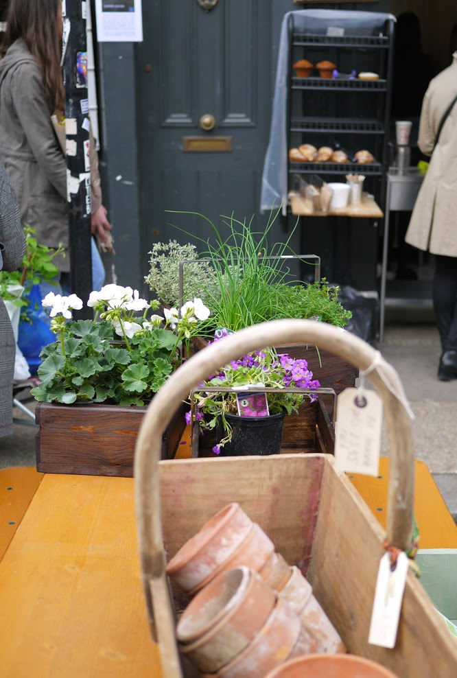 Columbia Road flower market in April by Alexis www.somethingimade.co.uk