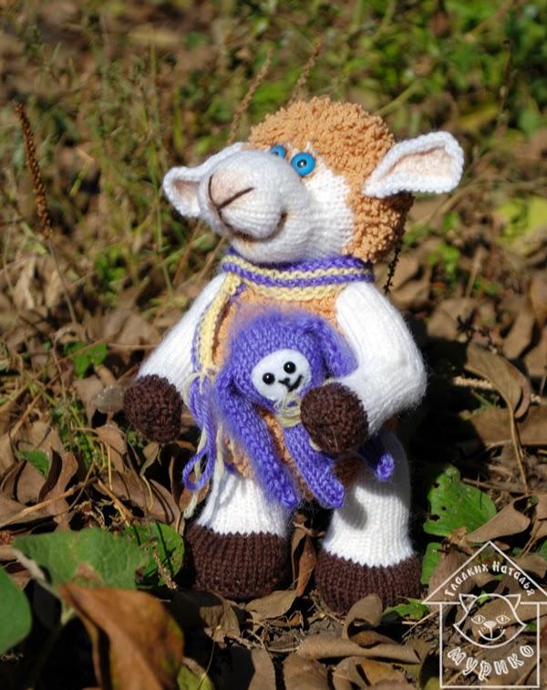 овечка, кукла, игрушки, подарок, новый год 2015, мурико, Гладких Наталья, авторские игршки