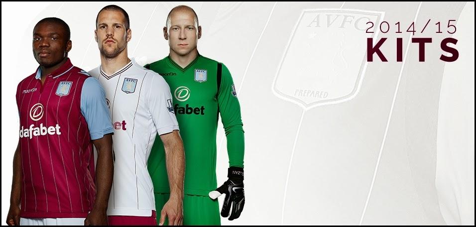 Aston Villa 14-15 Home Kit Football Jersey