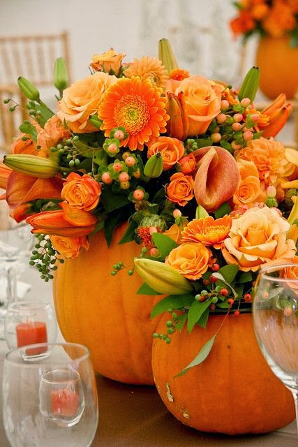 Pumpkin Flower Pot Ideas