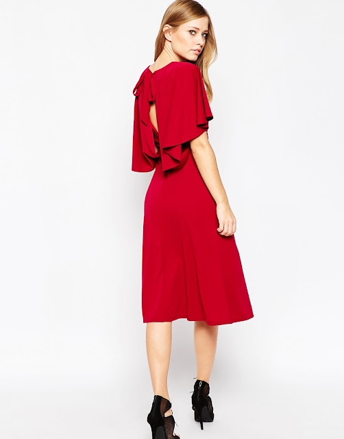 red cape dress,