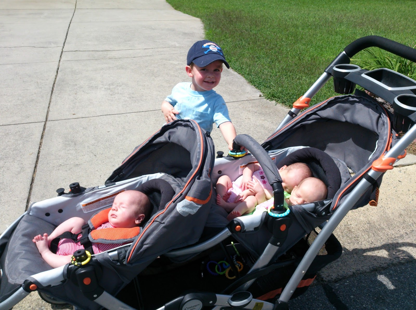 Triplets + Toddler: This is How We Roll