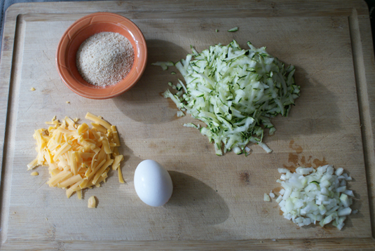 Simple ingredients for Zucchini Tots