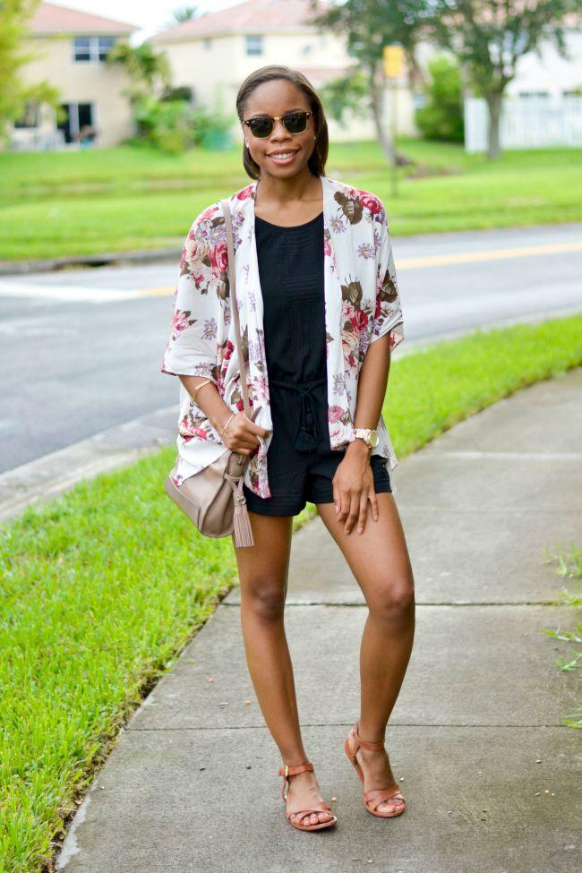 Romper & Kimono | Summer Outfits